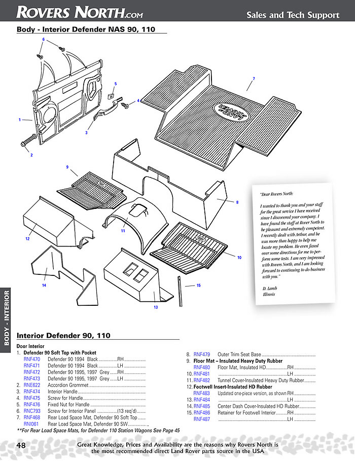 defender interior body exmoor trim usa rh exmoortrimusa com 1997 land rover defender 90 owners manual land rover defender 90 parts catalog