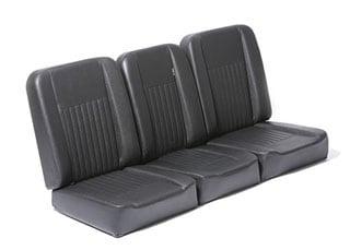 DELUXE FRONT SEAT SET - BLACK VINYL SERIES II-III