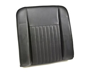 SEAT BACK DELUXE OUTER WITH FIXING BOLTS FOR SERIES II,IIA,III - BLACK VINYL