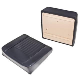 SEAT BOTTOM DELUXE OUTER FOR ADJUSTABLE SEAT TRAY SERIES II,IIA,III - BLACK VINYL