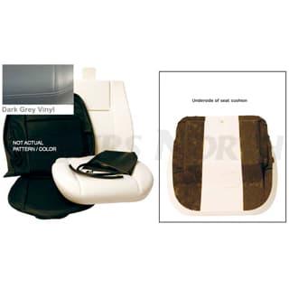 FRONT DEFENDER SEAT RETRIM KIT - DARK GREY VINYL