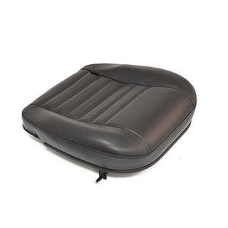 FRONT BOTTOM DEFENDER SEAT CUSHION, DRIVER or PASSENGER - BLACK VINYL