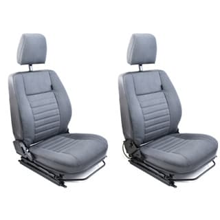 """FRONT SEATS (PAIR) FOR DEFENDER """"WITH HEATERS INSTALLED""""- NAS CAR DENIM"""