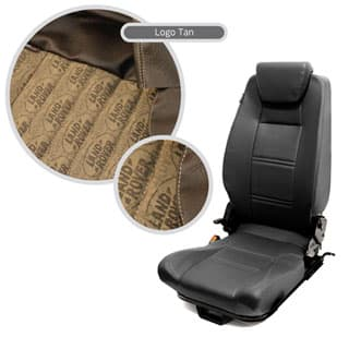 PREMIUM HIGH BACK 2ND ROW SEAT - LEFT HAND - LAND ROVER LOGO BROWN