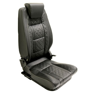 PREMIUM HIGH BACK 2ND ROW SEAT - LEFT HAND - XS BLACK RACK