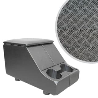 EXMOOR NON-LOCKING CUBBY BOX WITH TWIN CUP HOLDER FOR DEFENDER & SERIES - TECHNO