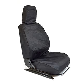 NYLON WATERPROOF SEAT COVER FRONT OUTER SEAT DEFENDER BLACK
