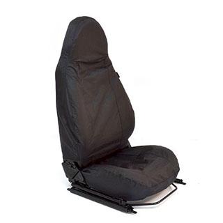 LAND ROVER DEFENDER 110 2007/> REAR SEATS WATERPROOF SEAT COVERS SET DA2828BLACK