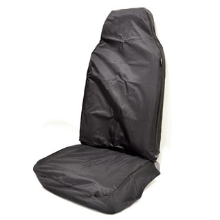 NYLON WATERPROOF SEAT COVER CLASSIC HIGH BACK SECOND-ROW SEAT SERIES-DEFENDER BLACK