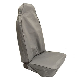 NYLON WATERPROOF SEAT COVER CLASSIC HIGH BACK SECOND-ROW SEAT SERIES-DEFENDER GREY
