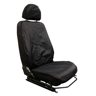 NYLON WATERPROOF SEAT COVERS FRONT OUTER PAIR TD4 PUMA BLACK