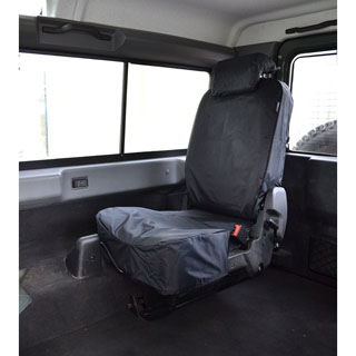 NYLON WATERPROOF SEAT COVERS REAR FORWARD FACING LOAD SPACE SEATS PAIR  PUMA BLACK