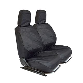NYLON WATERPROOF SEAT COVERS FRONT OUTER PAIR DEFENDER BLACK