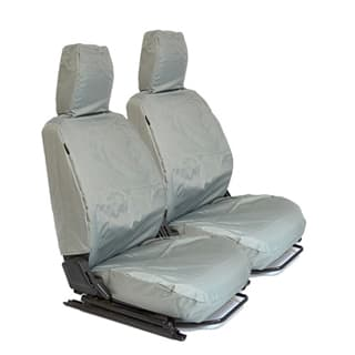 NYLON WATERPROOF SEAT COVERS FRONT OUTER PAIR DEFENDER GREY