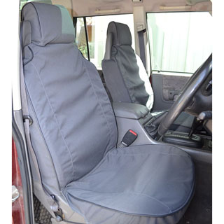 Canvas Seat Covers Front Discovery II Black