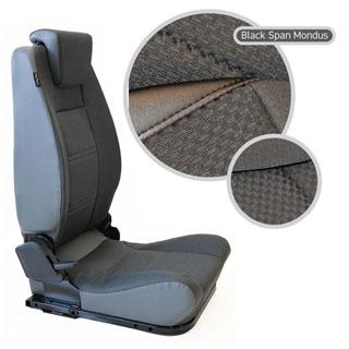 LOCK & FOLD REAR SEAT (L/H) - BLACK SPAN MONDUS