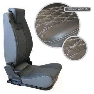 LOCK & FOLD REAR SEAT (L/H) - DIAMOND WHITE XS