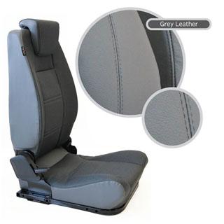 LOCK & FOLD REAR SEAT (L/H) - GREY LEATHER