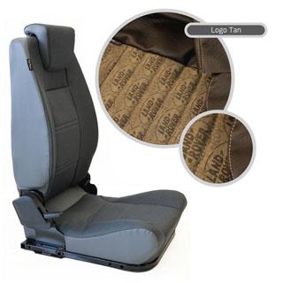 LOCK & FOLD REAR SEAT (L/H) - LOGO TAN