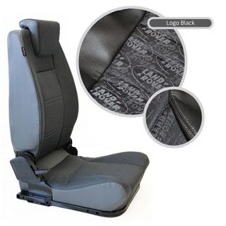 LOCK & FOLD REAR SEAT (L/H) - LOGO BLACK