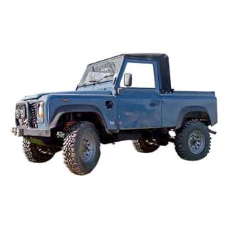 90/110  TRUCK CAB  TD5 BLACK STAYFAST HOODING