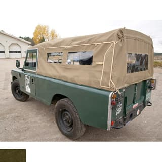 """Canvas Top 110"""" Full With Side Windows Khaki"""