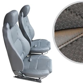 EXMOOR TRIM MK-II ELITE SEATS (PAIR) WITH HEATERS AND LUMBAR SUPPORTS FOR DEFENDER - BLACK SPAN MONDUS