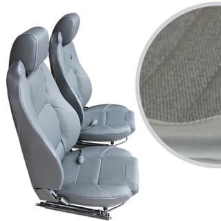 EXMOOR TRIM MK-II ELITE SEATS (PAIR) WITH HEATERS AND LUMBAR SUPPORTS FOR DEFENDER - DENIM TWILL VINYL