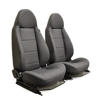 MODULAR SEATS GREY LEATHER (PAIR)