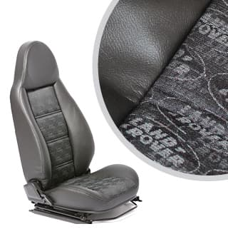 MODULAR SEATS LAND ROVER LOGO BLACK (PAIR)