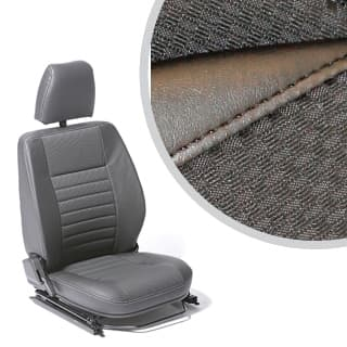 SEAT ASSEMBLY RIGHT-HAND FRONT OUTER DEFENDER BLACK SPAN/MONDUS