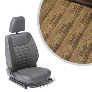 SEAT ASSEMBLY RIGHT-HAND FRONT OUTER DEFENDER LR LOGO BROWN