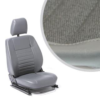 FRONT DEFENDER SEAT ASSEMBLY WITH ADJUSTABLE FRAME, LEFT HAND - TWILL VINYL