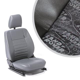 SEAT ASSEMBLY LEFT-HAND FRONT OUTER DEFENDER LR LOGO BLACK
