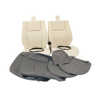 RETRIM KIT IN MATCHING DARK GRANITE LEATHER FOR TWO FRONT SEATS. DEFENDER 1984-2006