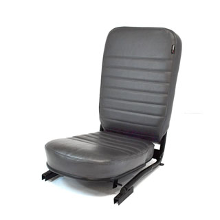 SEAT ASSEMBLY LESS/HEADREST FRONT CENTER DEFENDER DARK GREY VINYL