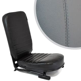 SEAT ASSEMBLY LESS/HEADREST FRONT CENTER DEFENDER GREY LEATHER