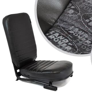 SEAT ASSEMBLY LESS/HEADREST FRONT CENTER DEFENDER LR LOGO BLACK
