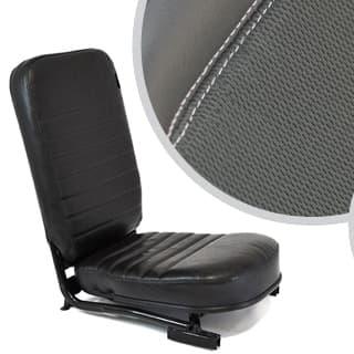 SEAT ASSEMBLY LESS/HEADREST FRONT CENTER DEFENDER XS-BLACK RACK HALF LEATHER