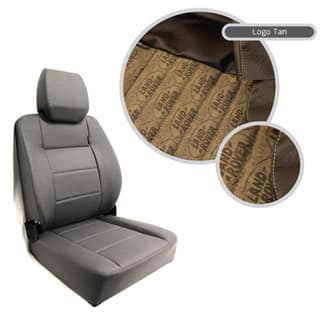 EXTREME MKII HIGH BACK SEAT ASSEMBLY - LAND ROVER LOGO BROWN