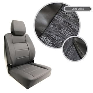 EXTREME MKII HIGH BACK SEAT ASSEMBLY - LAND ROVER LOGO BLACK FABRIC