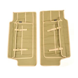 CANVAS FRONT DOOR PANELS (PAIR) FOR SERIES, DEFENDER -SAND