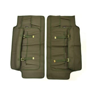 CANVAS FRONT DOOR PANELS (PAIR) FOR SERIES, DEFENDER -KHAKI