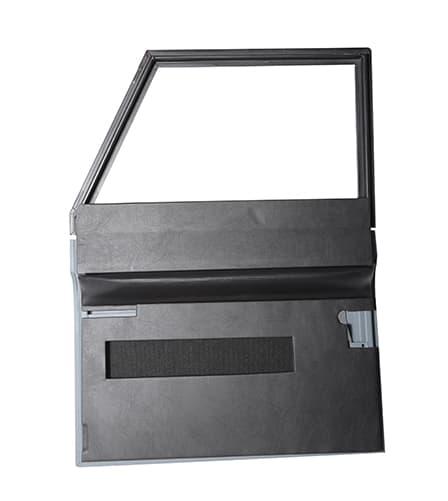 FRONT DOOR TRIM SET WITHOUT POCKETS FOR SERIES -BLACK VINYL