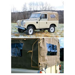 Canvas Top Full Length 88 W/ Side Windows in SAND by Exmoor