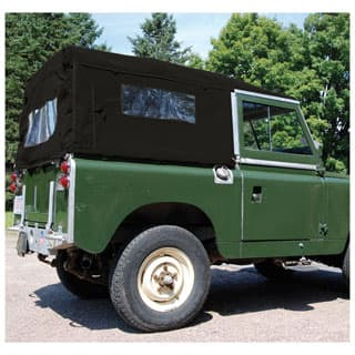 CANVAS TOP FULL LENGTH SERIES 88, WITH SIDE WINDOWS, BLACK