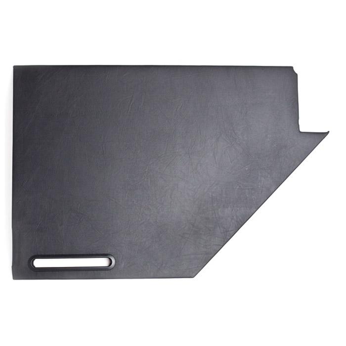 DOOR TRIM RIGHT HAND REAR LOWER PANEL SERIES II-IIA - BLACK VINYL, EX2831,  EXT382-14